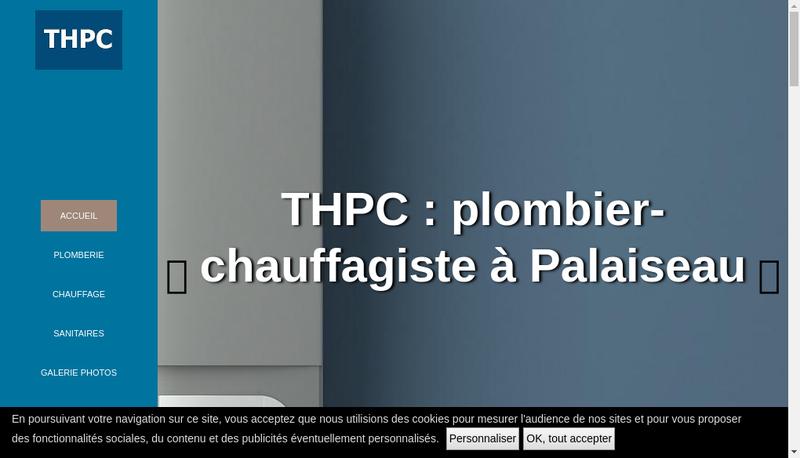 Capture d'écran du site de THPC