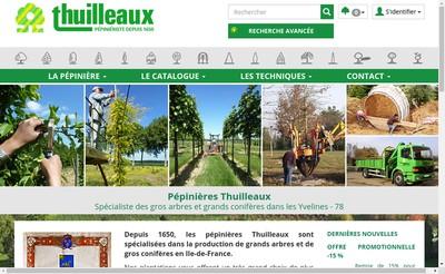 Site internet de Pepinieres Thuilleaux