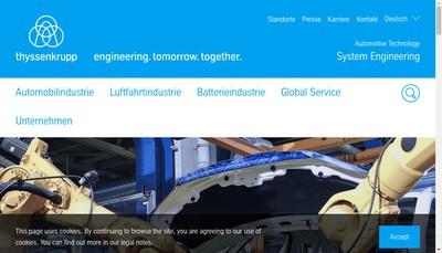 Site internet de Thyssenkrupp System Engineering SAS