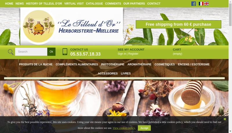 Capture d'écran du site de Le Tilleul d'Or