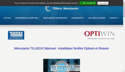 Site internet de Tillieux Menuiserie