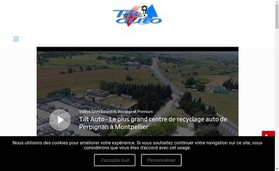 Site internet de Tilt Auto