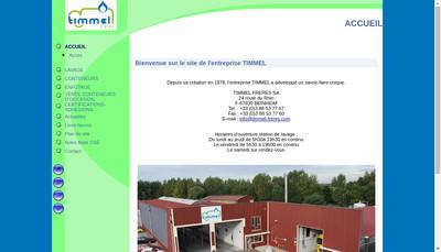 Site internet de Timmel Services
