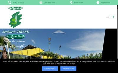 Site internet de SARL Tirand la Main Verte