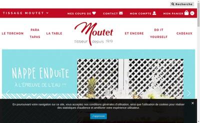 Site internet de Tissage Moutet