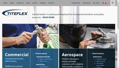 Site internet de Titeflex Europe