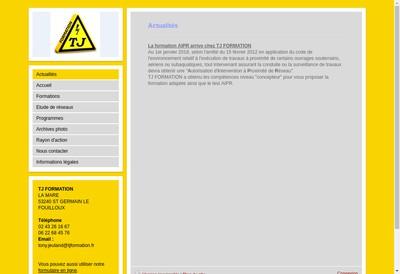 Site internet de Tj Formation