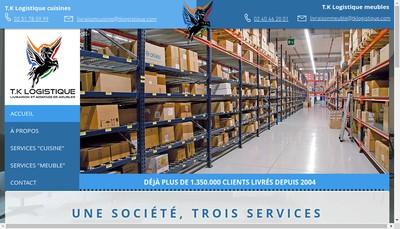 Site internet de Tk Logistique