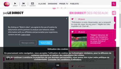 Site internet de Loire Tele