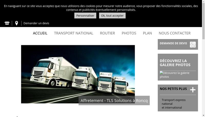 Capture d'écran du site de The Little Shop Showroom