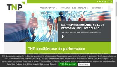 Site internet de Tnp Consultants