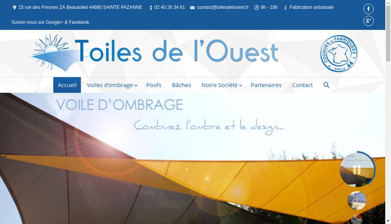 Capture d'écran du site de Magenta Communication