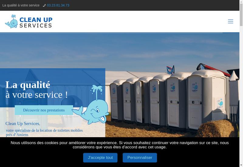 Capture d'écran du site de SARL Clean Up Services