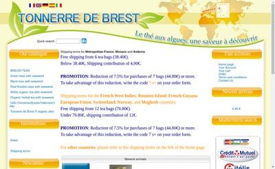 Site internet de Brasserie Tonnerre de Brest