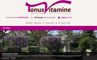 Site internet de Tonus Vitamine