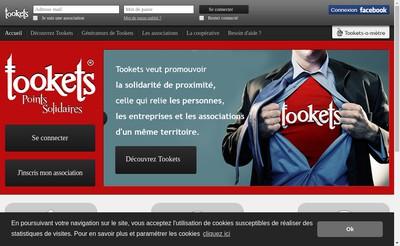 Site internet de Tookets Coop
