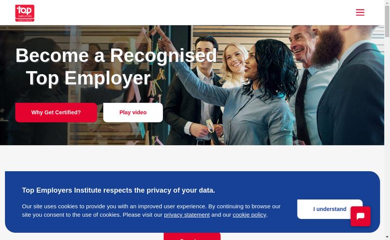 Capture d'écran du site de Top Employers France