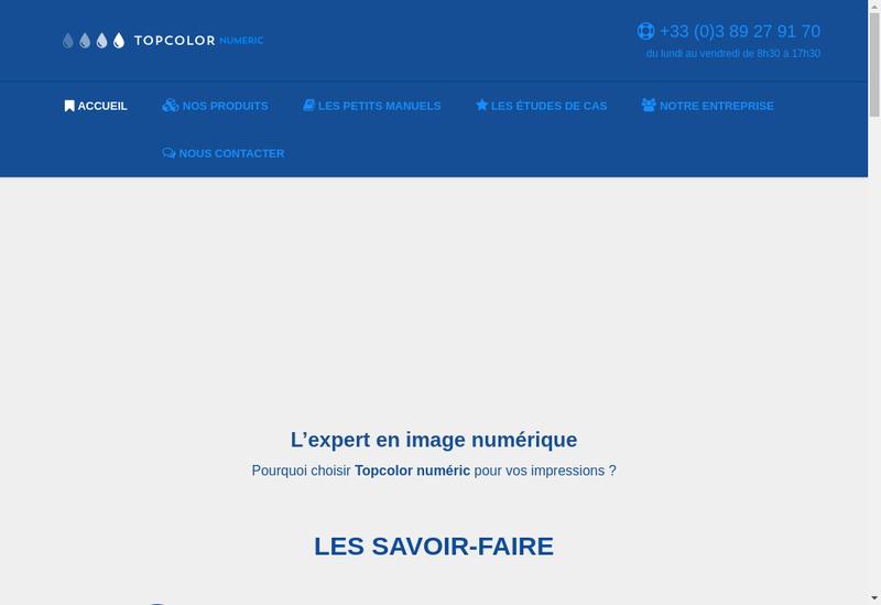Capture d'écran du site de Topcolor Numeric