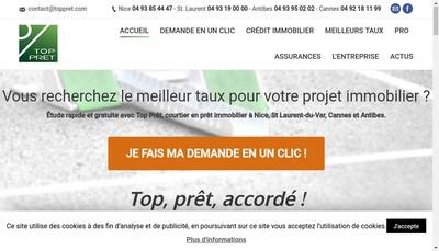 Site internet de SARL Top Pret