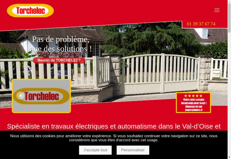 Capture d'écran du site de Torchelec Automatisme EURL