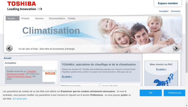 Capture d'écran du site de Tfd SNC