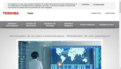 Site internet de Toshiba Region Centre Est