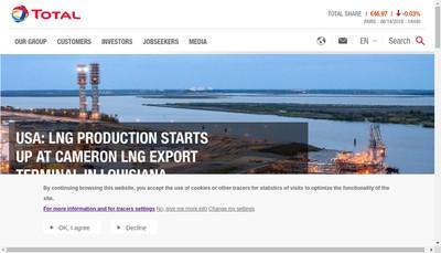 Site internet de Total E et P Indonesie