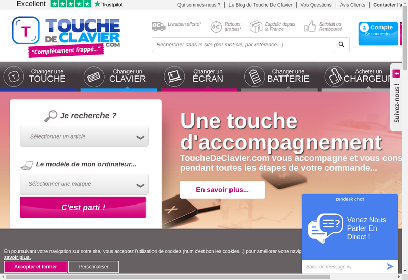Capture d'écran du site de Touchedeclavier.com - Welovekeys.com