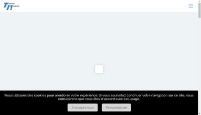 Capture d'écran du site de Touraine Miroiterie