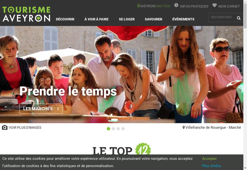 Capture d'écran du site de Aveyron Television