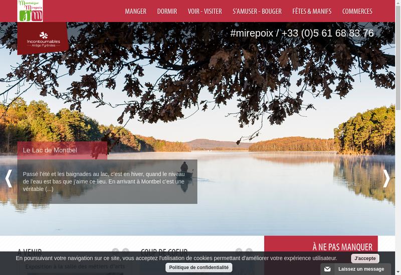 Capture d'écran du site de Mirepoix Materiaux