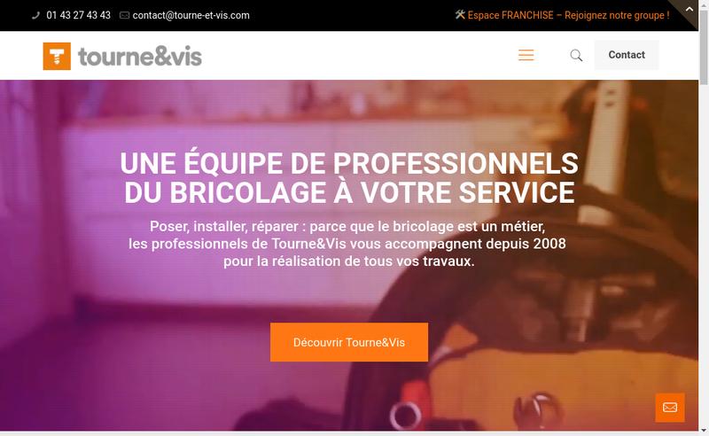 Capture d'écran du site de Tourne et Vis Reseau