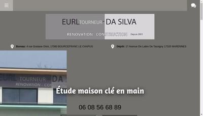 Site internet de EURL Tourneur Da Silva