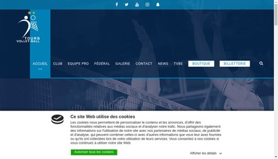 Site internet de Tours Volley Ball