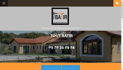 Site internet de Tout Batir