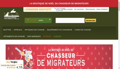 Capture d'écran du site de Toutpourlahutte.com