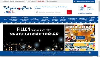 Site internet de SA Fillon Fetes et Kermesses