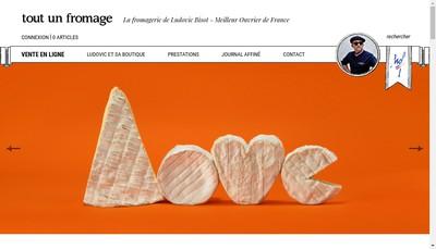 Site internet de Tout un Fromage