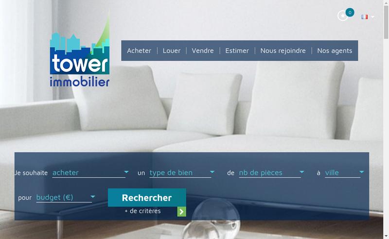 Capture d'écran du site de Tower Immobilier