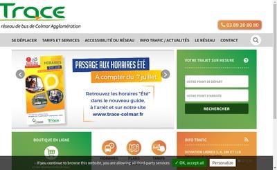 Site internet de Trace-Colmar