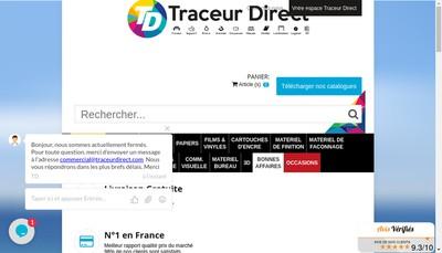 Site internet de Traceur Direct