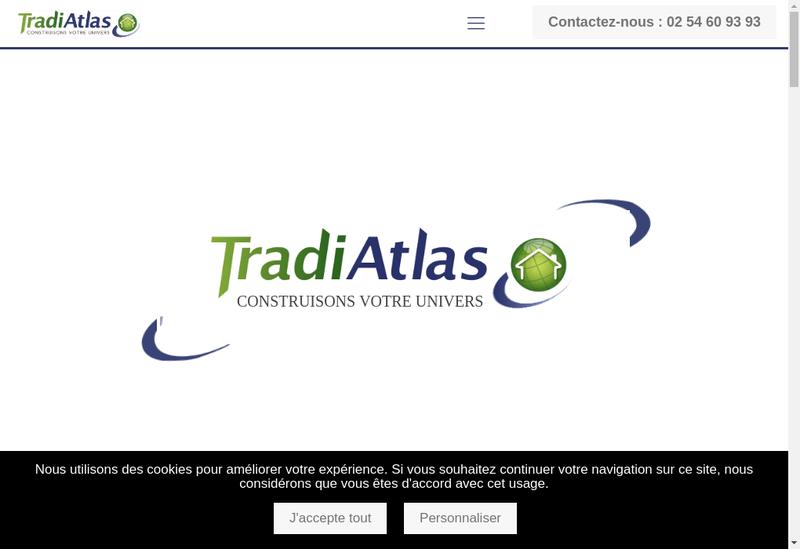 Capture d'écran du site de Tradi Atlas