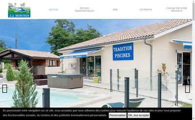 Site internet de SARL Tradition Piscines