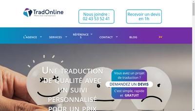 Site internet de Trad Online