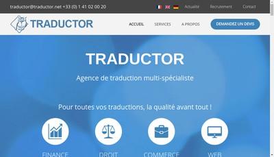 Site internet de Traductor