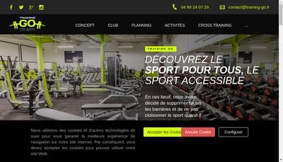 Site internet de Training Go