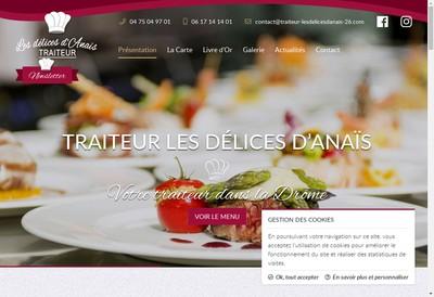 Site internet de Traiteur les Delices d'Anais