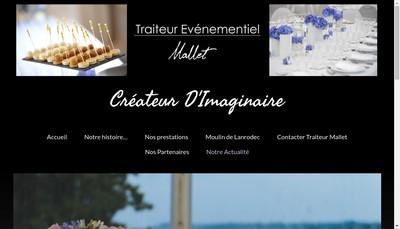 Site internet de Traiteur Evenementiel Mallet