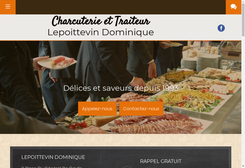 Capture d'écran du site de Dominique Lepoittevin