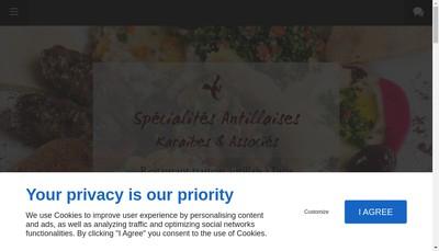 Site internet de Specialites Antillaises Menilmontant